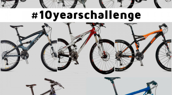 #10YearsChallenge de 10 bicicletas de mountain bike