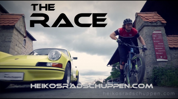 Un Porsche 911 clásico contra una Bergamont Encore MTB, ¿quién ganará?