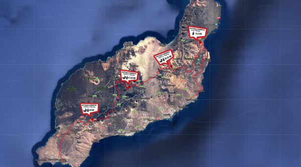 Recorrido etapa reina Ultrabike Lanzarote