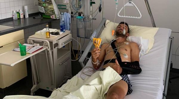 Manuel Fumic en el hospital