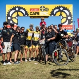 Team Burry Stander Songo during the final stage (stage 7) of the 2013 Absa Cape Epic Mountain Bike stage race from Stellenbosch to Lourensford Wine Estate in Somerset West, South Africa on the 24 March 2013  Photo by Nick Muzik/Cape Epic/SPORTZPICS