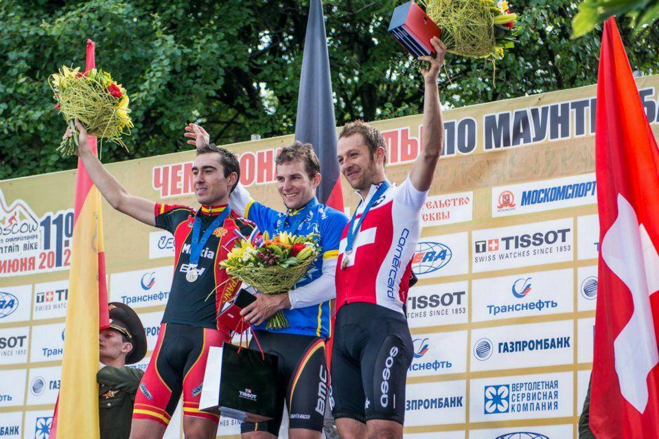 Sergio Mantecón en el podio de Moscú 2012