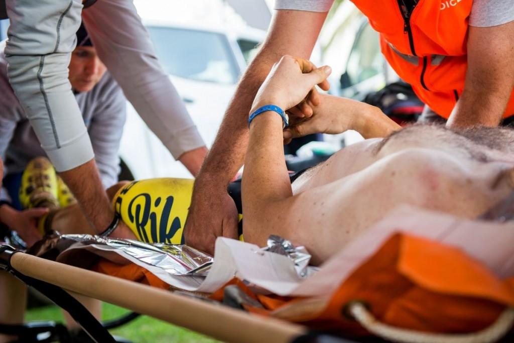 Y el otro servicio que vive una carrera paralela. El servicio médico. Los últimos días de la carrera las enfermedades y lesiones llegan al límite. Foto Emma Hill/Cape Epic/SPORTZPICS