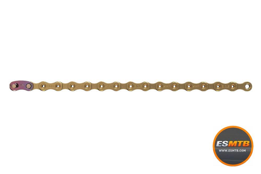 La cadena es igual que la del XX1 Eagle. 250 gramos y entre 55 y 92€.