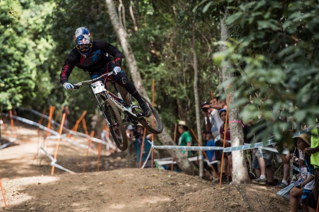 Loic Bruni en los entrenamientos, en los que no dominó como en Lourdes. Foto Bartek Wolinski/Red Bull