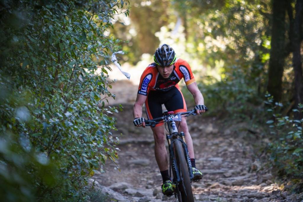 Jordi Quintanas peleando por el triunfo