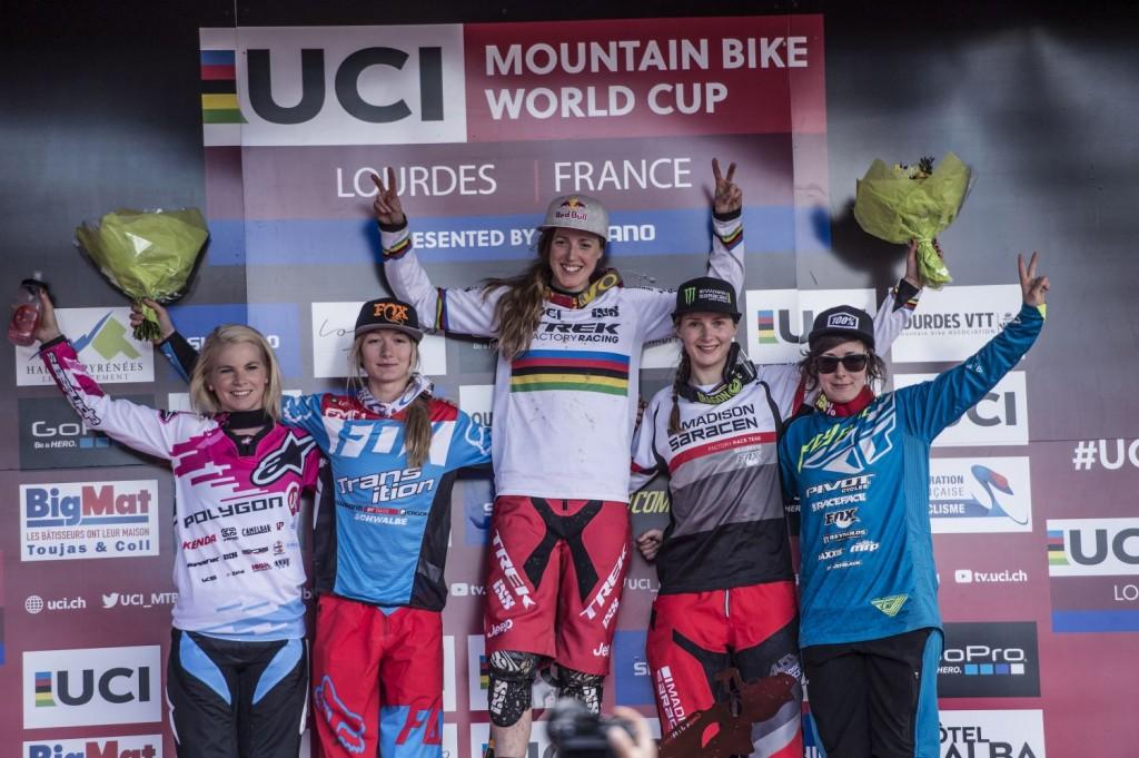 El podio femenino