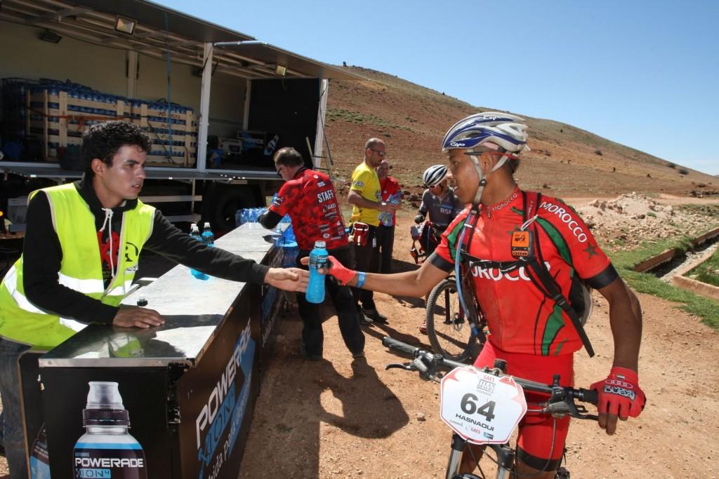 La selección de Marruecos ha traído su propio equipo, que cada año llega mejor preparado.