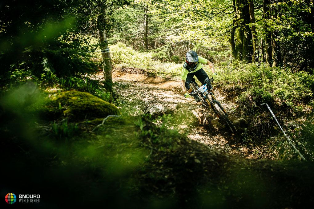 Rob Williams en uno de los sectores del enduro. Foto Duncan Philpott