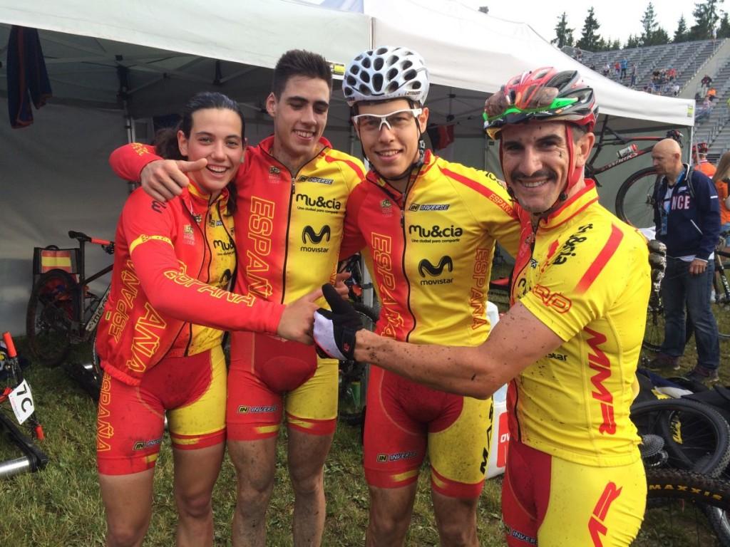 La selección española de Team Relay