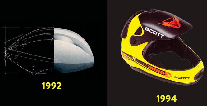 Primer casco aero de la marca y primer integral
