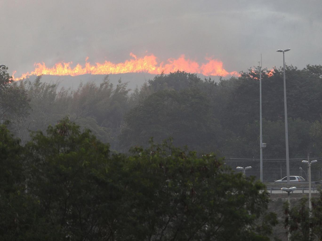 Incendio cerca del circuito olímpico de MTB