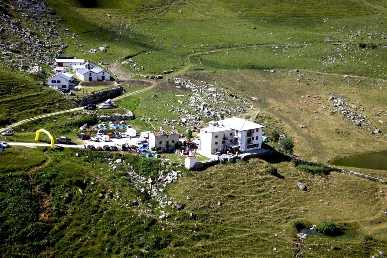 Un campamento mítico de la prueba. El del refugio Selleries, a unos 2.000 metros de altitud.