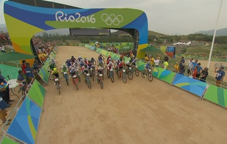 Arranque de la prueba olímpica femenina