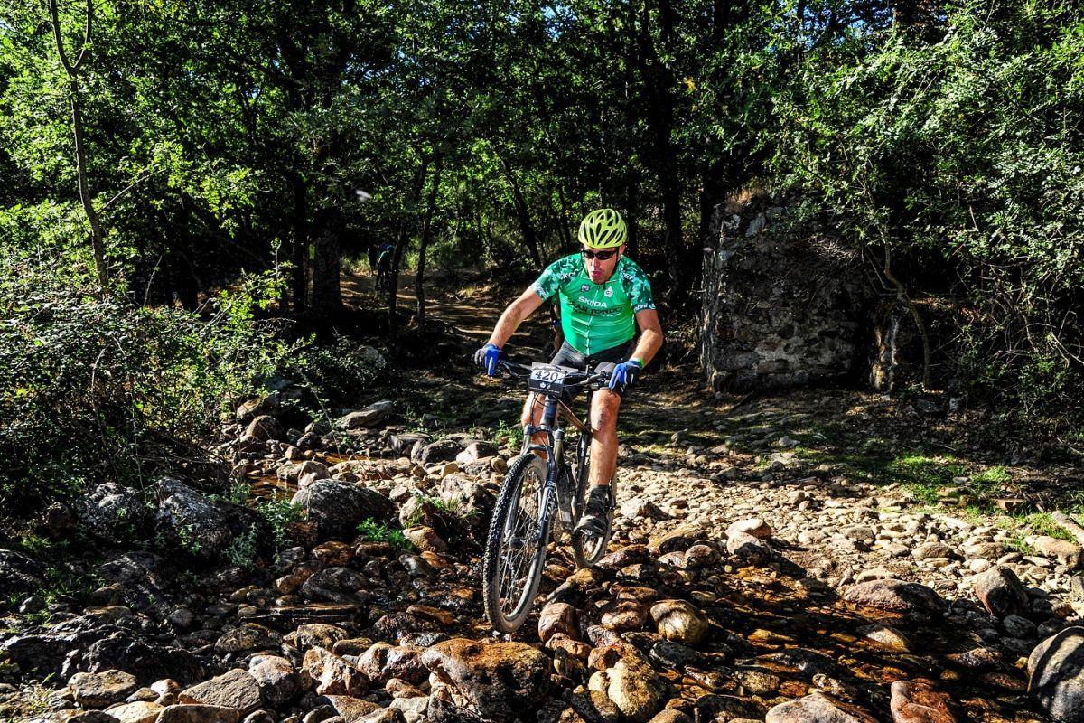Uno de los tramos en la ŠKODA Gran Fondo Buitrago MTB by Trek