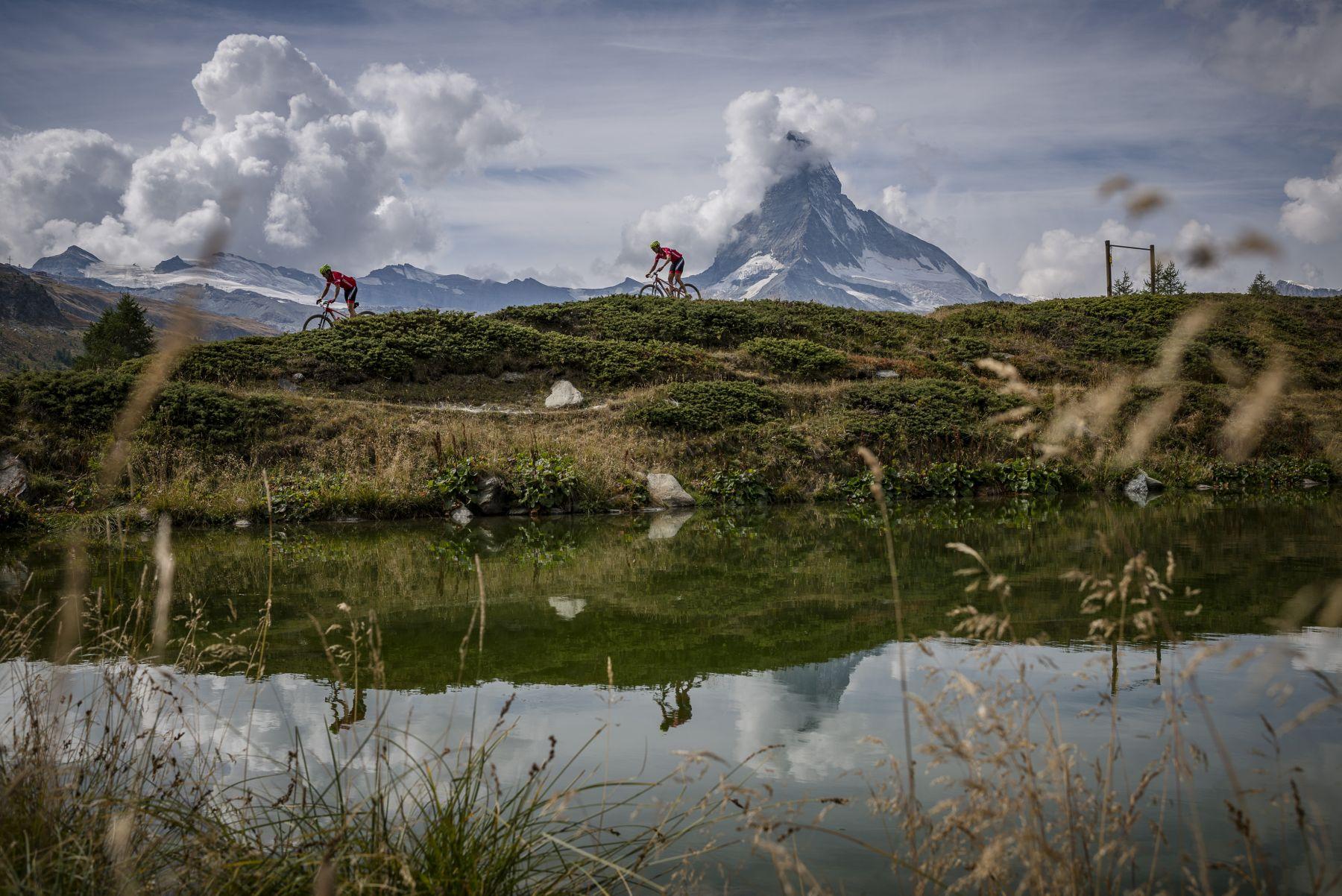 Y el Matterhorn como espectador de lujo de toda la carrera