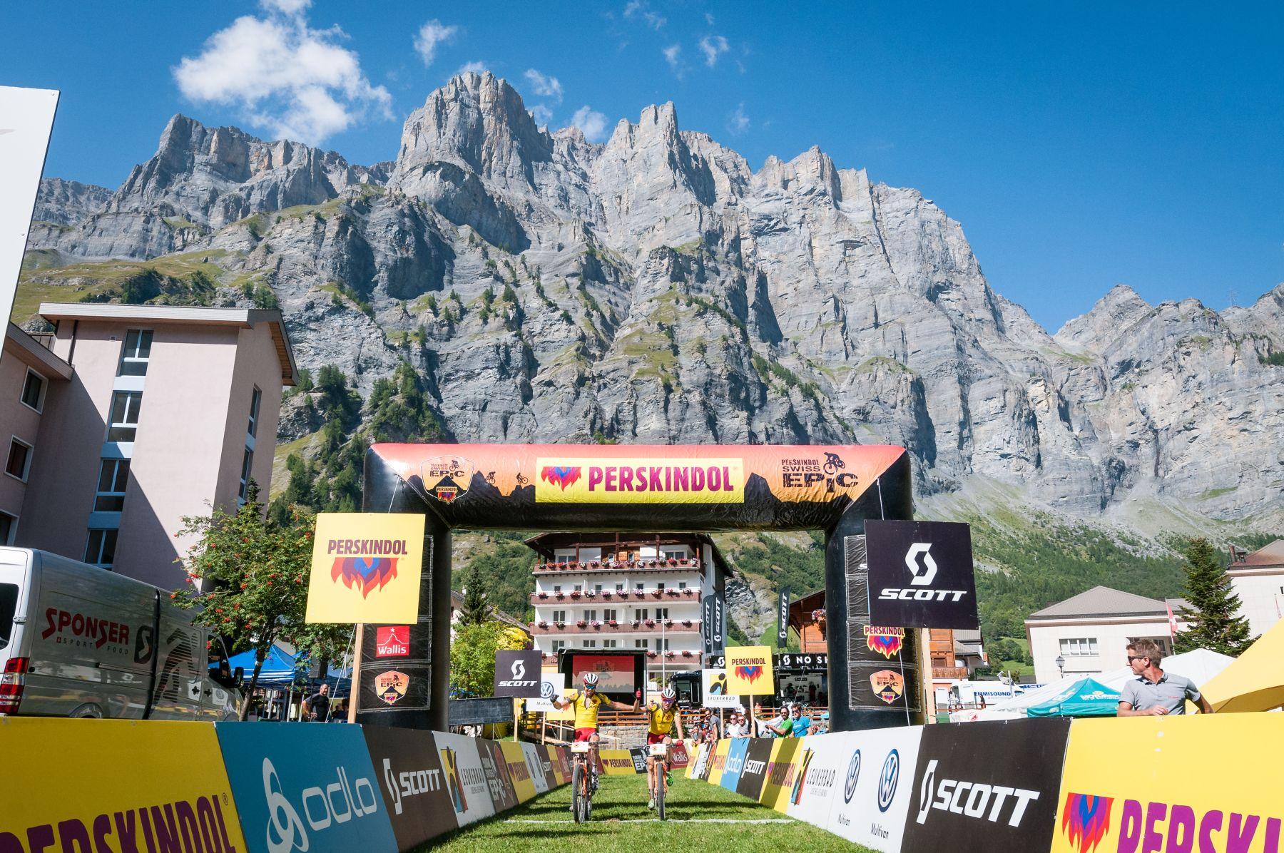 La impresionante meta en Leukerbad. Un lugar de visita obligada en Suiza