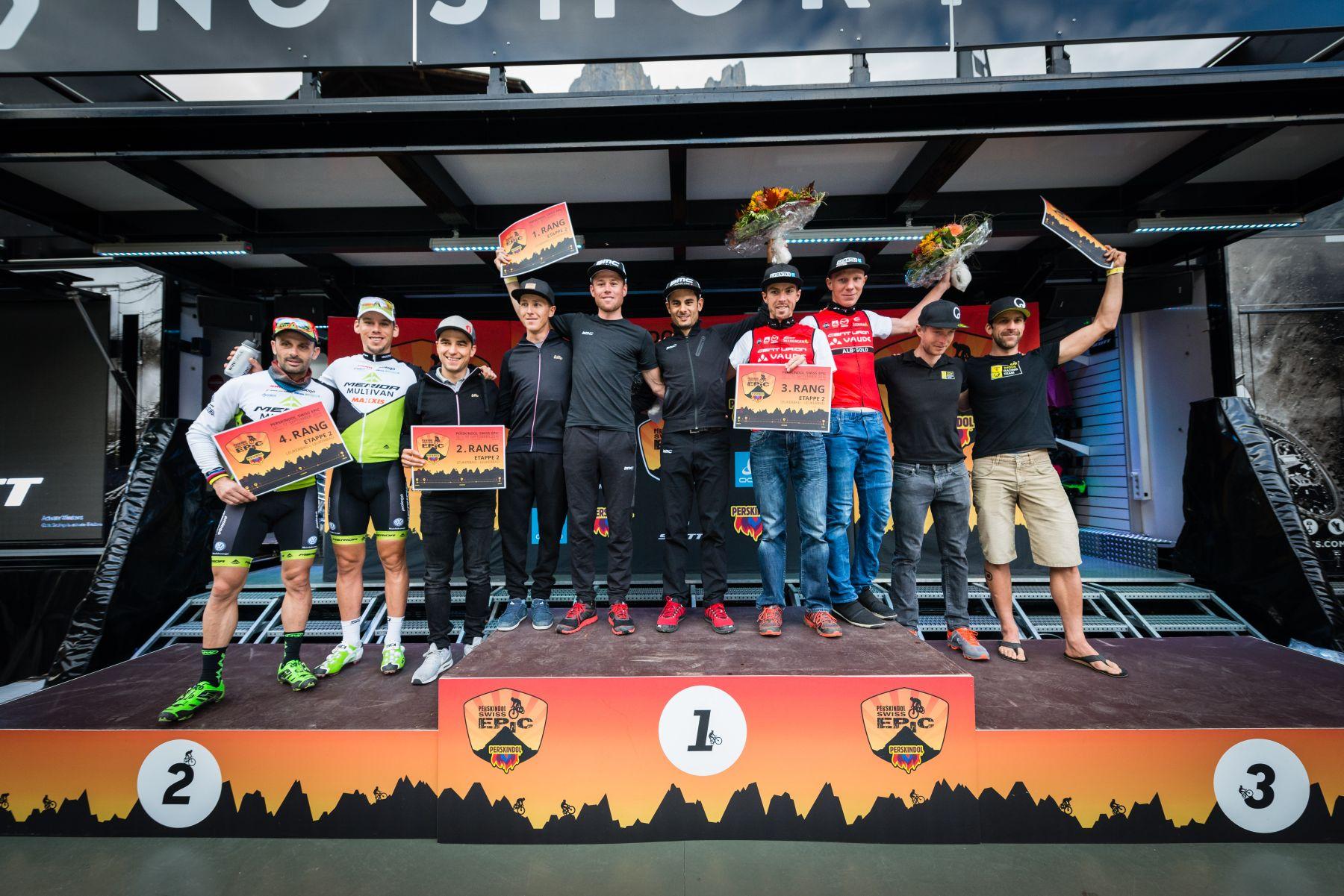 El podio de la etapa.
