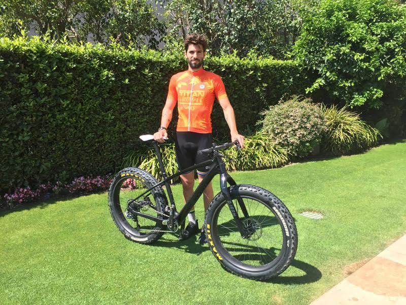 Jaime Alguersuari en su primer gran desafío en BTT