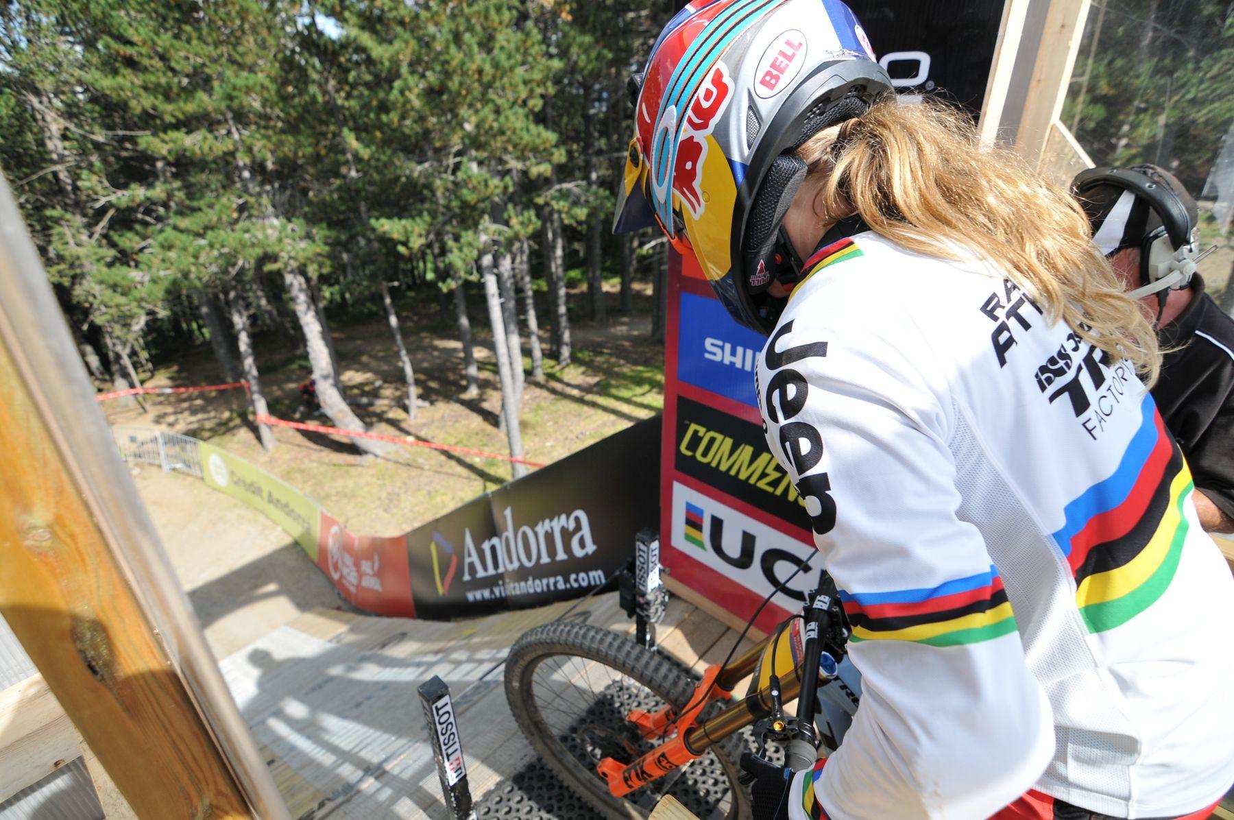 Rachel Atherton, después de arrasar en las últimas carreras, no se espera menos de ello en Vallnord