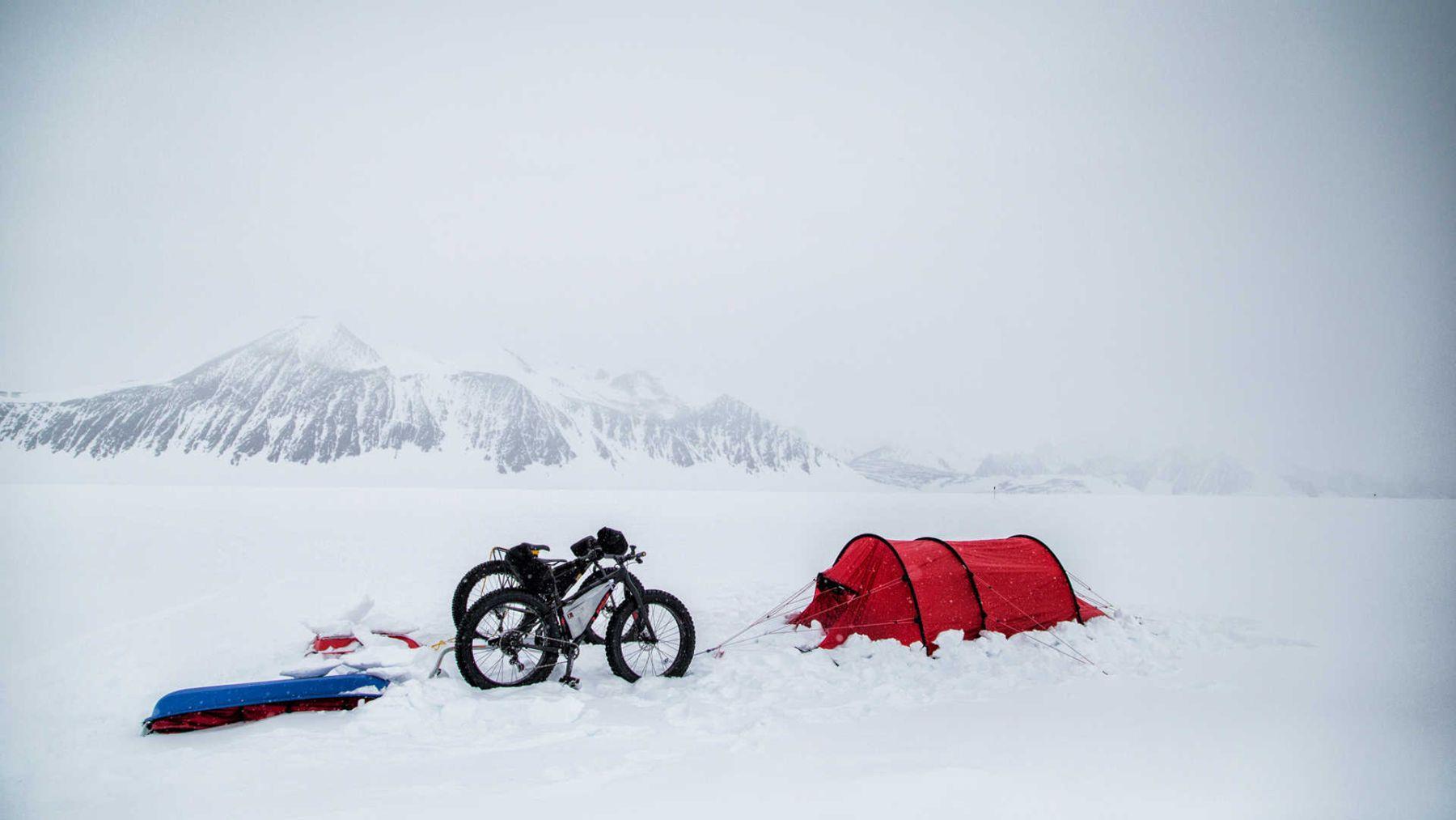 Campamento listo para descansar