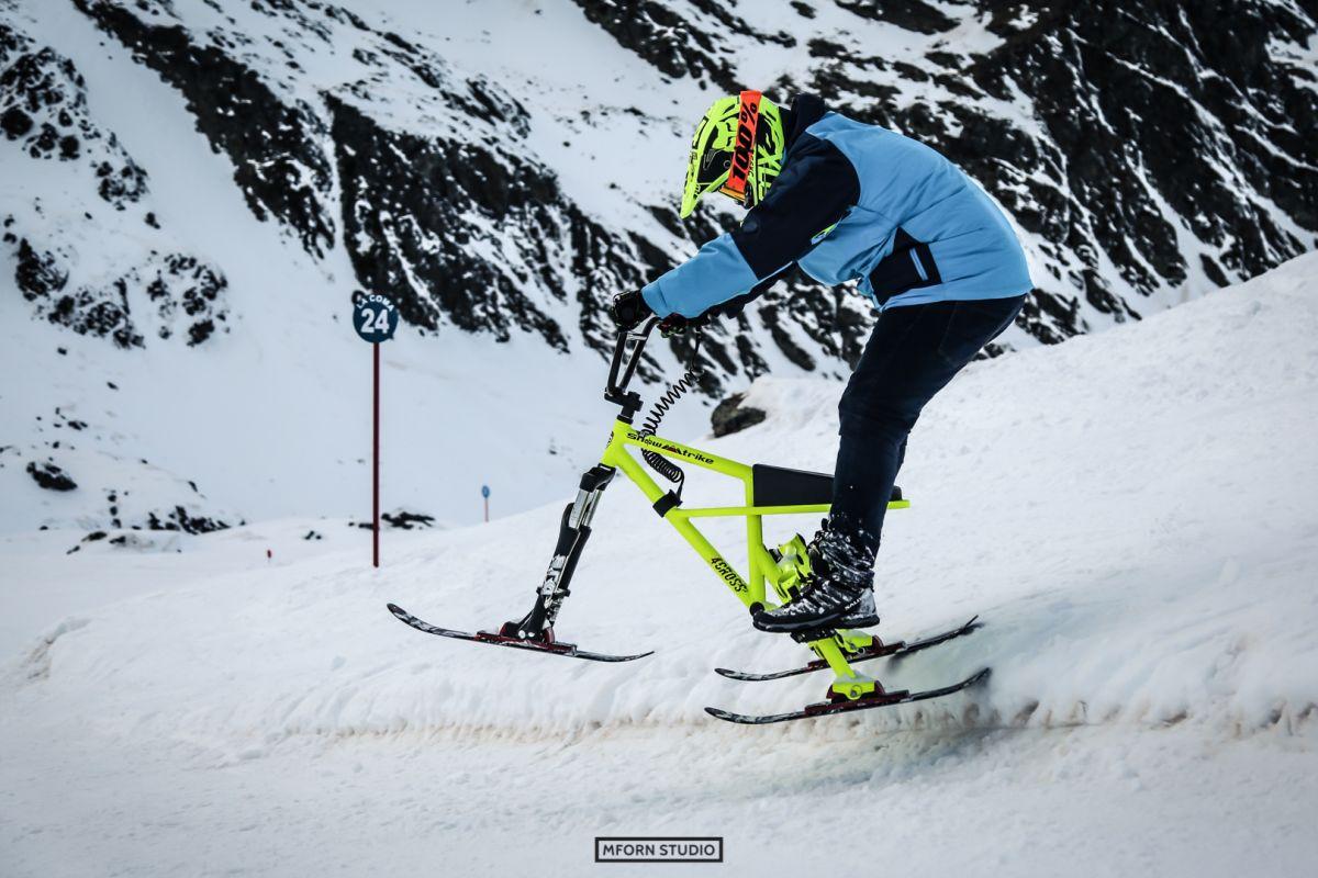 Snowtrike en acción