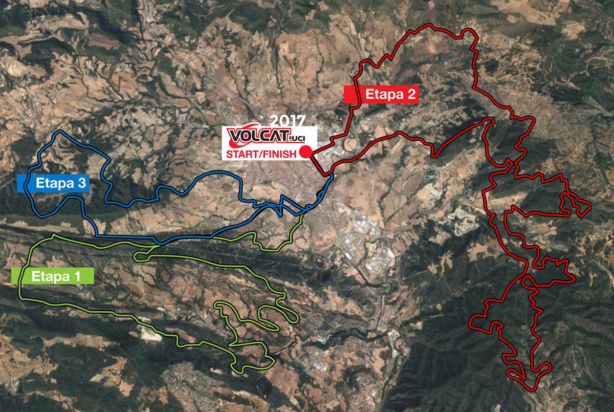 Mapa de las etapas de la Volcat 2017