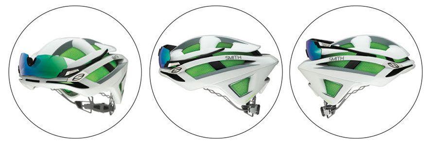 La forma de dejar las gafas en el casco Smith Overtake