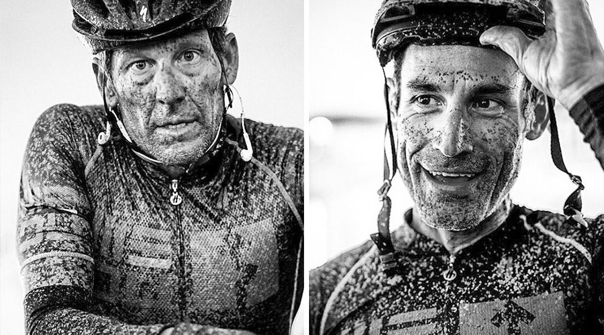 Lance Armstrong y George Hincapie. Foto @lizkreutz