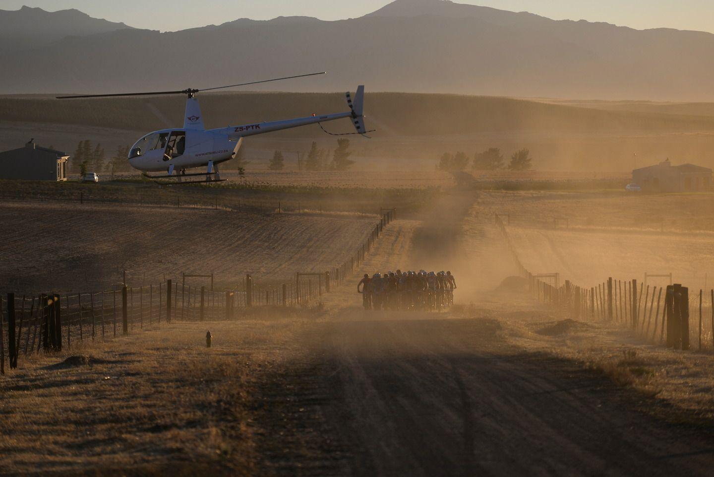 Si no hay helicóptero no hay carrera en Sudáfrica