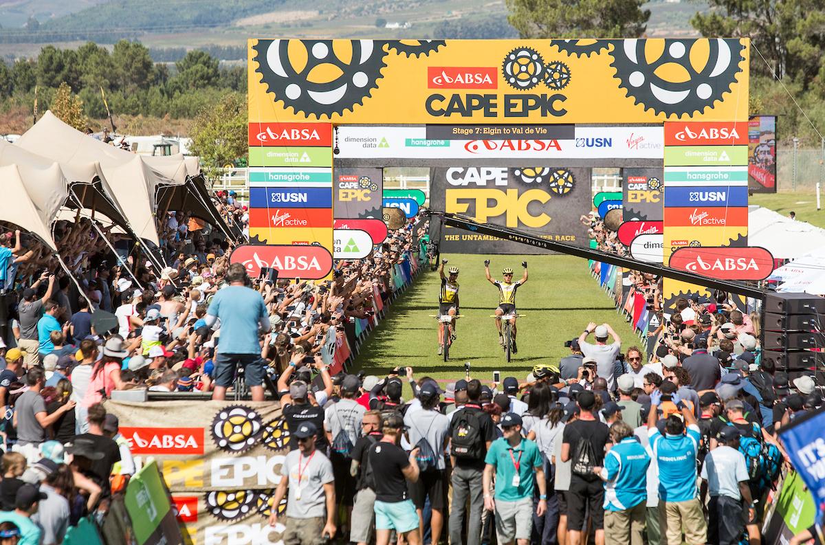 El momento más esperado. Foto Sam Clark/Cape Epic/SPORTZPICS
