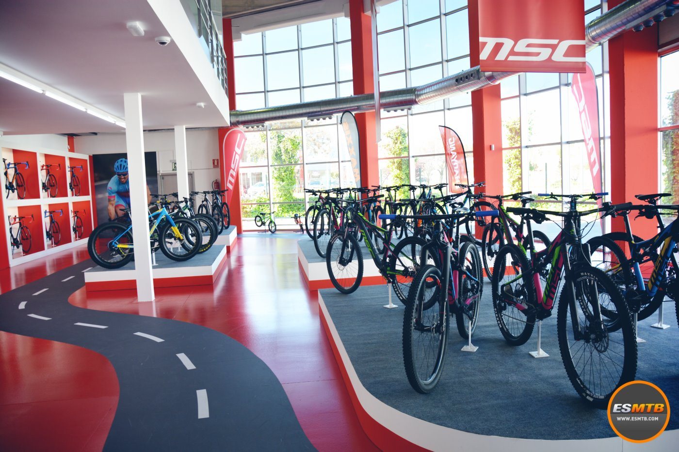 La entrada a la MSC Bikes Store
