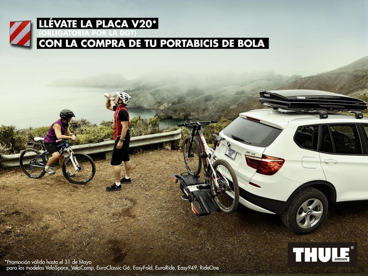 Campaña de Thule para sus portabicis de bola