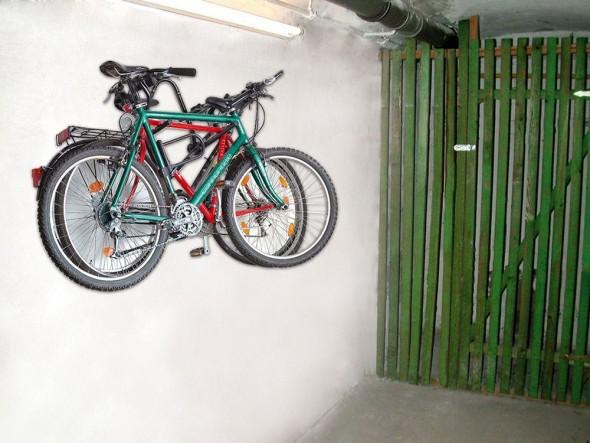 Soporte de pared para 3 bicicletas