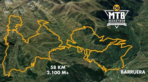 Recorrido de 58km
