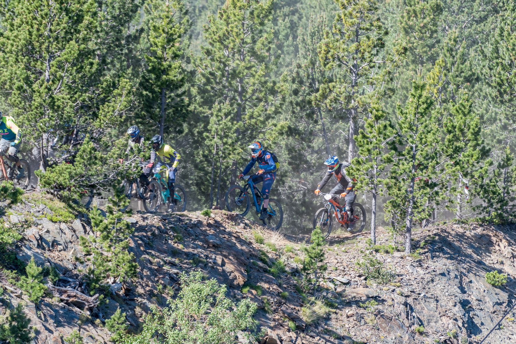 Los tramos de pedaleo, aunque pocos y cortos, son el terreno más fácil para adelantar