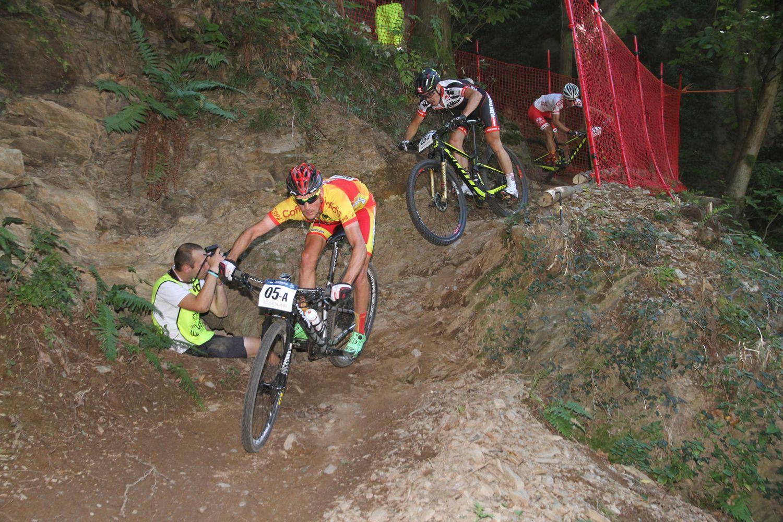 Pablo Rodriguez en uno de los tramos de bajada