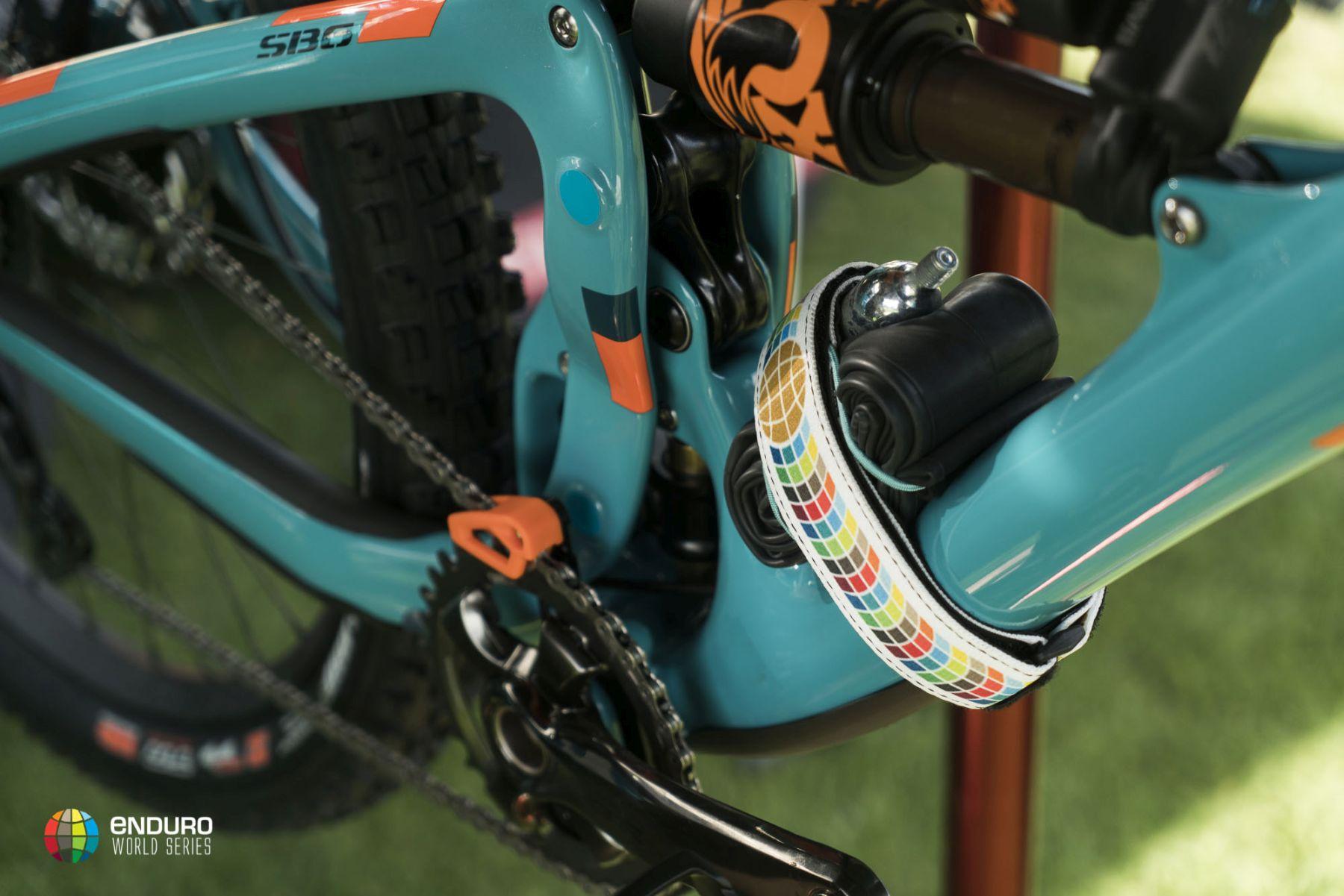 Detalles de la bici de Richie Rude