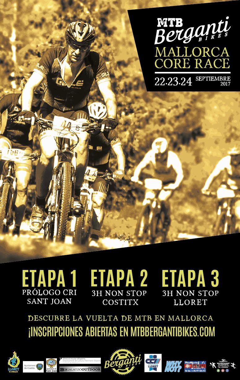 Cartel de la MTB Berganti Bikes - Mallorca Core Race