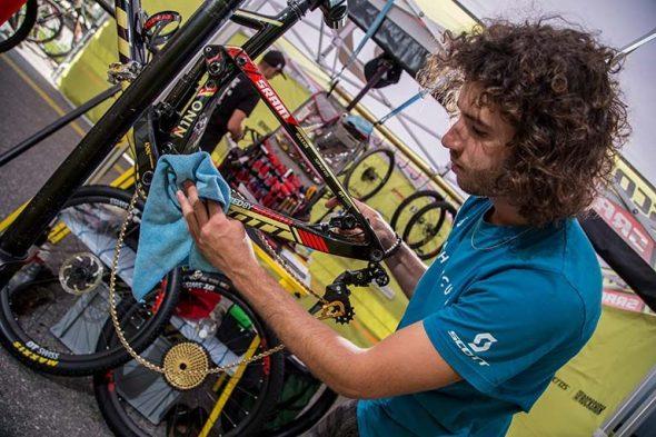 Limpiar bicicleta