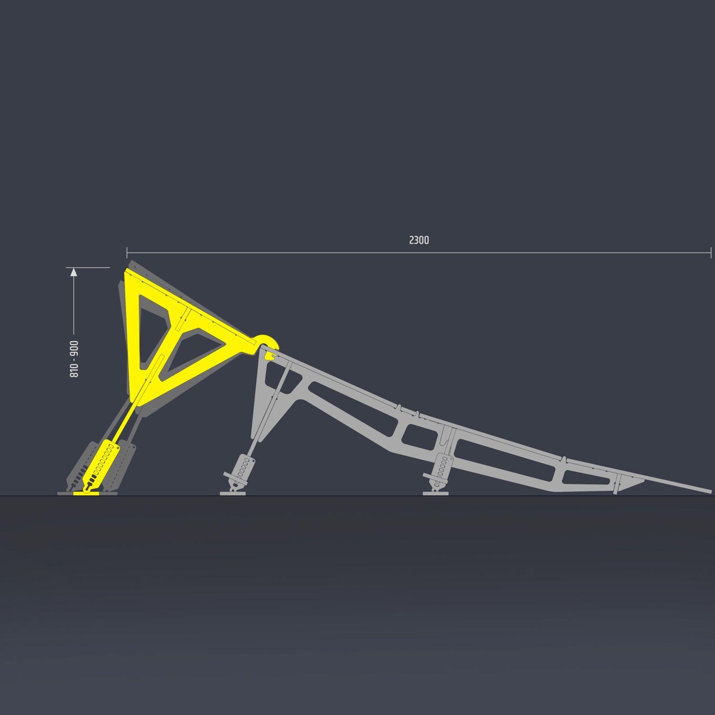 Salto portátil MTB Hopper