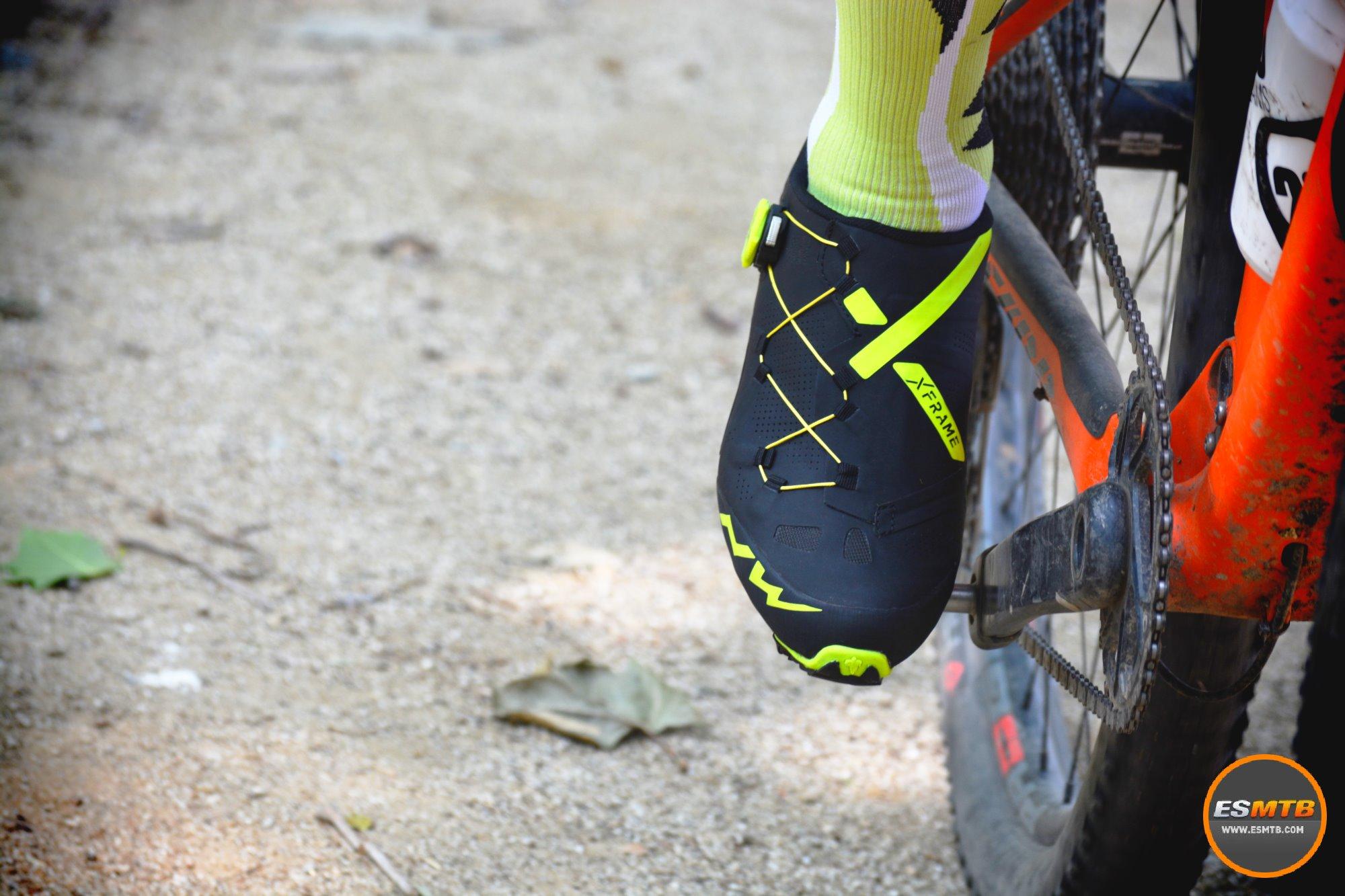 En acción con las zapatillas de MTB Northwave Ghost XC