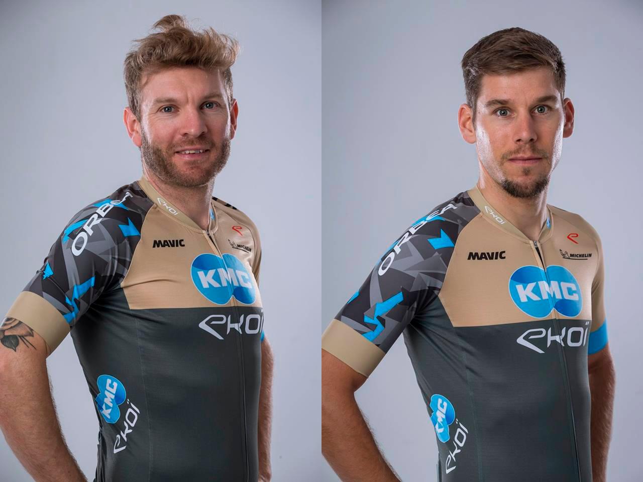 Florian Vogel y Thomas Litscher con sus nuevos colores