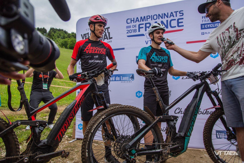 Absalon y Perrin-Ganier en el campeonato de Francia de ebikes