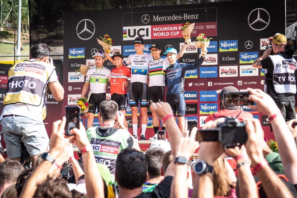 Luca Braidot en el podio