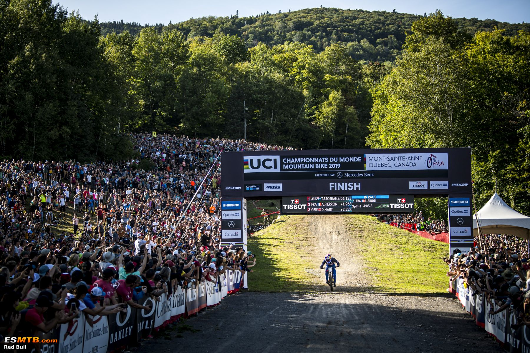 Loic Bruni performs at the UCI MTB World Championships 2019.