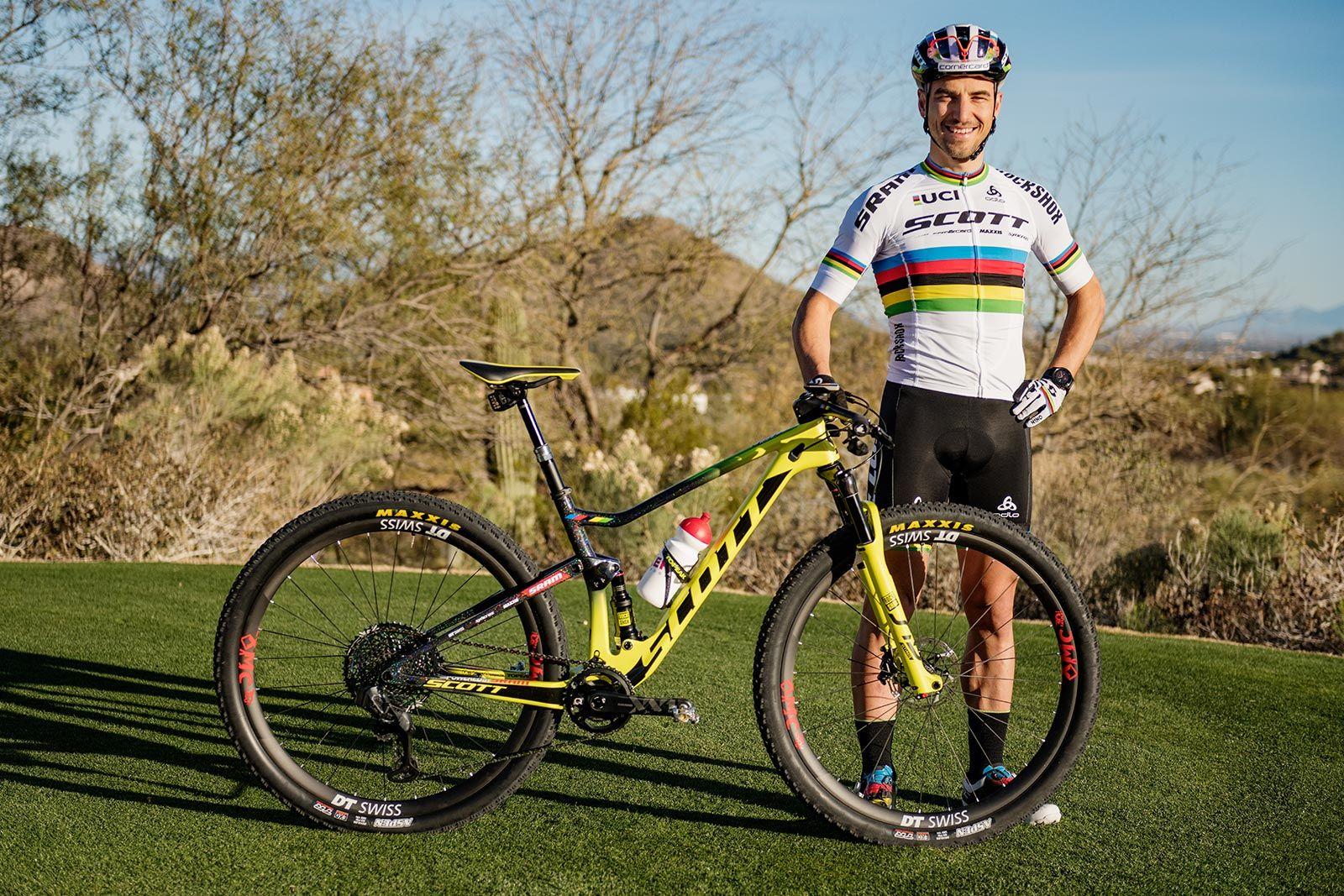 Scott Spark RC y su rider más famoso
